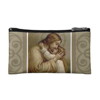 Designer Rosary Jesus with girl Makeup Bag