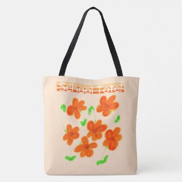 Beach Themed Designer School Tote