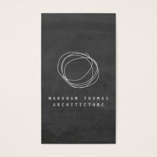Designer Scribble Logo on Black Chalkboard II Business Card