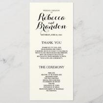 Designer Script Custom Wedding Program