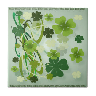 Designer Shamrocks Tiles
