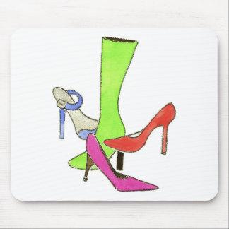 designer shoes FINAL Mouse Pad