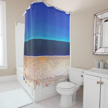 """Designer Shower Curtain """"Beach"""""""