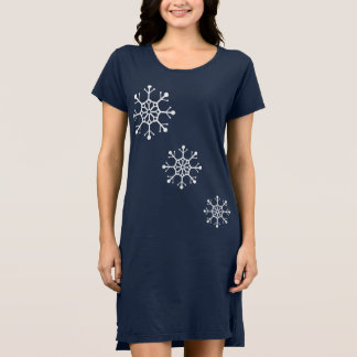 Designer Snowflake Christmas Party Dress