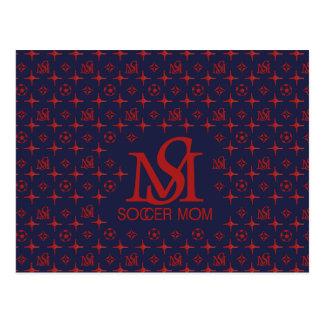 Designer Soccer Mom (blue/red) Postcard