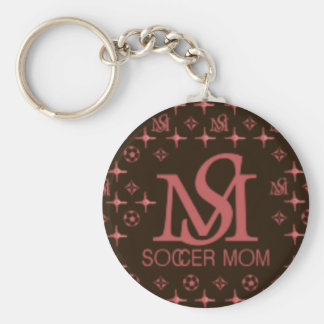 Designer Soccer Mom (brown/pink) Keychain