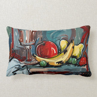 Designer Still Life Brightly Colored Throw Pillow
