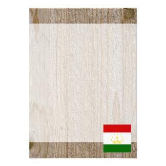 "Designer Tajikistan Flag Box 5"" X 7"" Invitation Card"