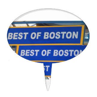 Designer TEXT Best of Boston USA America Cake Topper
