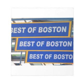 Designer TEXT Best of Boston USA America Notepad