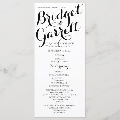designer text wedding program zazzle com