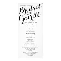 Designer Text Black and White Wedding Program