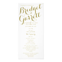 Designer Text Gold and White Wedding Program