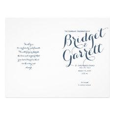 Designer Text Wedding Program at Zazzle
