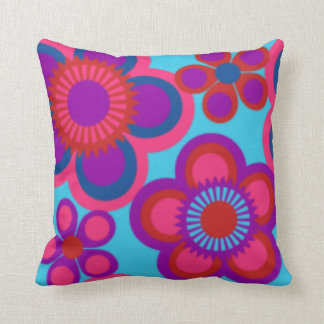 DESIGNER THROW PILLOWS - FLOWERS - BRIGHT COLORS