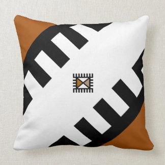 Designer Throw Pillows With African Symbols Design
