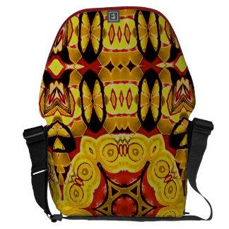 Designer tribal colourful commuter laptop bag courier bag