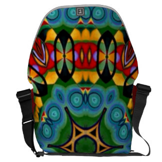 Designer tribal 'watercolour' commuter laptop bag