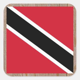 Designer Trinidad and Tobago Flag Box Square Sticker