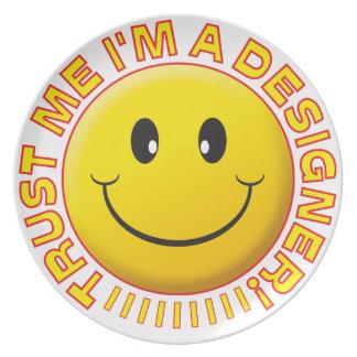 Designer Trust Me Smiley Party Plates
