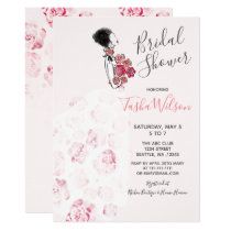 Designer Wedding Dress Elegant Bridal Shower Card