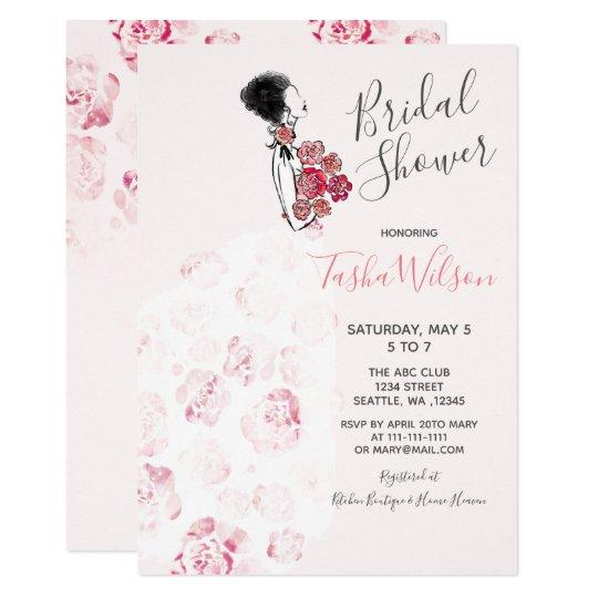 Designer wedding dress elegant bridal shower invitation zazzle designer wedding dress elegant bridal shower invitation filmwisefo