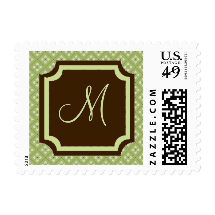 Designer Wedding Monograms Classic Elegant Stylish Postage