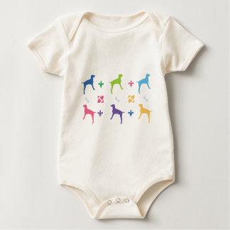 Designer Weimaraner Baby Bodysuit