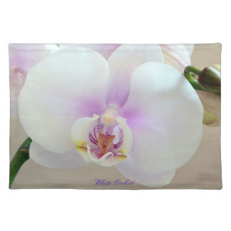 "Designer ""White Orchid"" Place Mats by Neil Willens"
