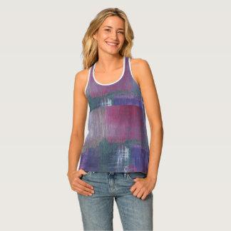 Designer Women's Purple Tank Top S-XL