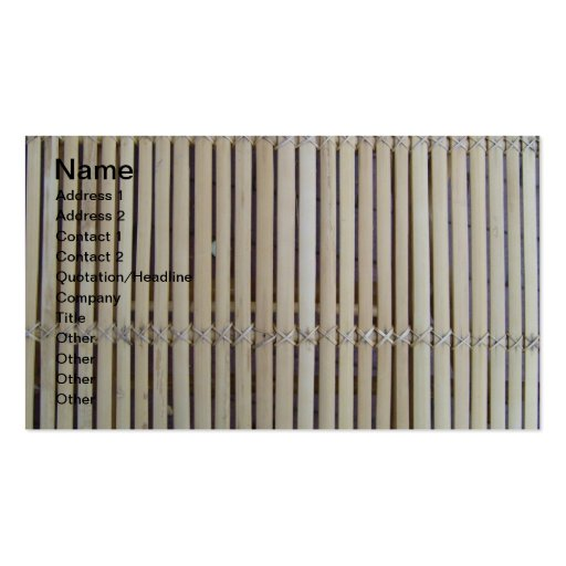 Designer Wood Bamboo Fence Business Cards