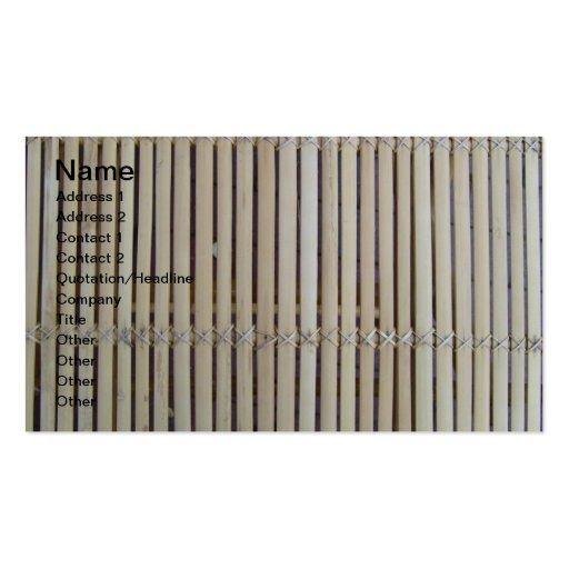 Designer Wood Bamboo Fence Business Cards
