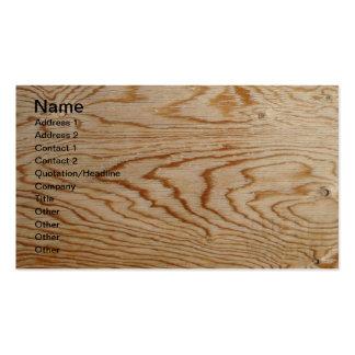 Designer Wood Grain Business Cards