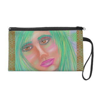 "Designer Wristlet ""Her eyes gave her away"""