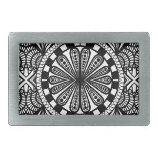 Designer zen doodle mandala art. A great gift! Belt Buckle