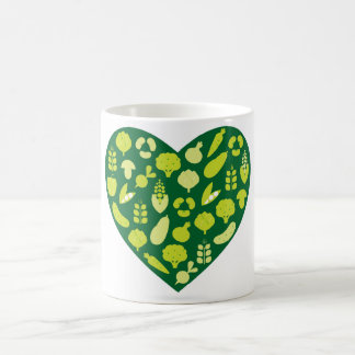 Designers BIO design mug white green