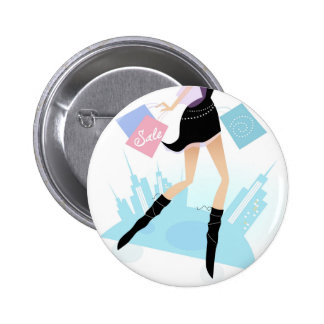 Designers button with Ladies illustration