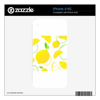 Designers collection with Lemons iPhone 4 Skins