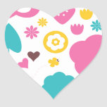 Designers collection with Summer easter Art Heart Sticker
