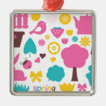 Designers collection with Summer easter Art Metal Ornament