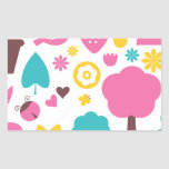 Designers collection with Summer easter Art Rectangular Sticker