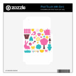 Designers collection with Summer easter Art Skins For iPod Touch 4G