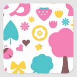Designers collection with Summer easter Art Square Sticker