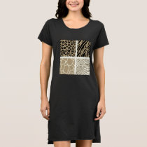 Designers dress with Vintage Jaguar pattern