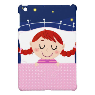 Designers edition with cute Sleeping girl Case For The iPad Mini