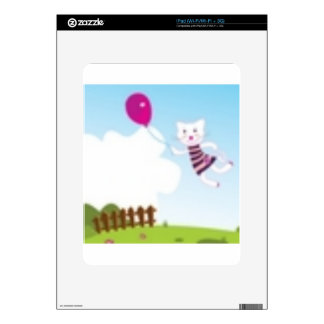 Designers flying kitten with Balloon Skins For The iPad