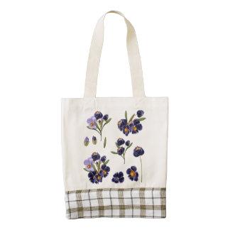 Designers folk bag with Flowers
