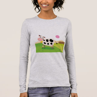Designers ladies t-shirt with Cow