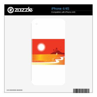 Designers lake with Sun / Orange edition iPhone 4 Skin