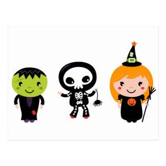 Designers little cute Halloween creatures Postcard